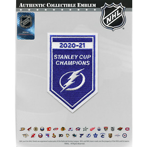 2021 NHL Stanley Cup Final Champions Tampa Bay Lightning Banner Jersey Patch