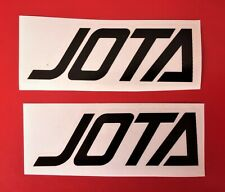 LAVERDA  JOTA SIDE PANEL DECALS/BLACK/CLEAR PAIR