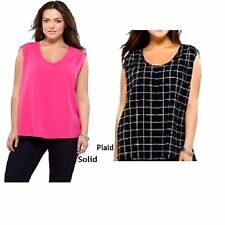Choice of Color Pure Energy Plus Size Sleeveless Blouse Top Shirt NWOT 158L10