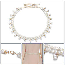 Girls Waist Chain Belt Adjustable Pearl Jewellery Accessory for Womens Fashions