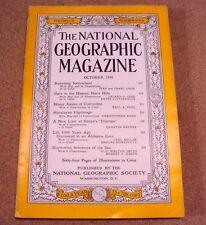 National Geographic Magazine October 1956 Switzerland Honey Himalayan Sea Coke A