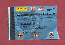 Orig.Ticket   Champions League  2009/10   AC SPARTA PRAG - PANATHINAIKOS ATHEN !