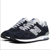 New balance Made In USA  J Crew x 1400 Collab Navy/Silver Men's size 5.5 M1400NV