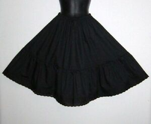 100% Vintage style Black Cotton Petticoat select the waist and length required