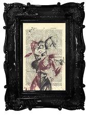 Wall Art Prints-Autentico Vintage ENCICLOPEDIA DIZIONARIO stampe-SQUADRA SUICIDA