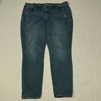 Old Navy 16 Curvy Skinny Light Wash Destroyed Stretch Denim Jeans