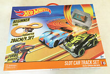 Hot Wheels Slot Car Track Set Beginner Level Big Ages 5 Toy Play Boys Girl