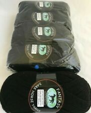 5 Dark Horse Yarns Fantasy Skeins #01 Black Midnight Machine Washable DL 2334