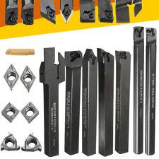 7x Set Of 10mm Lathe Turning Tool Holder Boring Bar w/ DCMT/CCMT Carbide