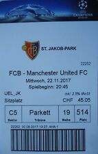 mint TICKET UEFA CL 2017/18 FC Basel - Manchester United