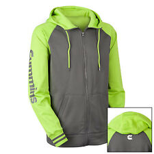 dodge cummins hoodie sweatshirt full zip fleece hooded jacket green gray Medium