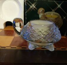 Vintage Avon Clear Glass Turtle Fragrance Meadow Morn Votive Holder In Box