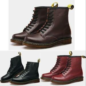 New Dr. Martens Unisex 1460 8 Lace Up Leather Boots Shoes Doc Martins - Smooth