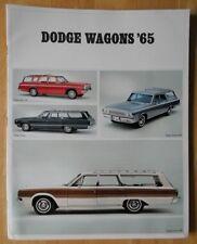 DODGE WAGONS orig 1965 Large Format USA Brochure - Dart Polara Coronet 440 880