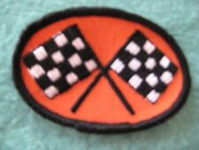 "Vintage NASCAR Racing Checkered Flag Patch 3 "" X 2"""