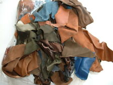 300g VINTAGE LEATHER OFFCUT PIECES A load of small offcuts of various colours
