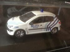 PEUGEOT 206 POLICE BELGIUM WHITE ** POLICE BRUNAU ** 1/43 MODELCAR IN BOX