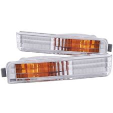 ANZO for 1990-1991 Honda Accord Euro Parking Lights Chrome w/ Amber Reflector -
