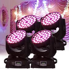 4x 360W  LED Moving Head Licht DMX512 DJ Bühnenbeleuchtung Stage Wash Lichter