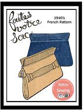 1940s Embrague Bolso francés patrón de costura