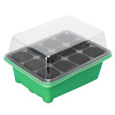 12 CELLS PLANT SEEDS GROW BOX TRAY INSERT PROPAGATION SEEDING CASE BOX FADDISH