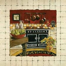 CHARLENE Olson : Cozy Cooking I tableau prêt 30x30 cuisine nostalgie shabby chic