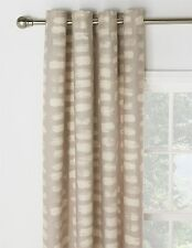 "Beautiful Paintbrush EYELET Curtains 66x90"" 168x229cm 100% Cotton NEUTRAL COLOUR"
