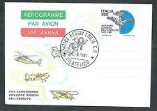1981 ITALIA AEROGRAMMA AVIAZIONE LEGGERA ESERCITO FDC - 2