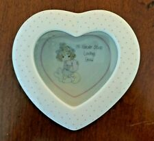 "Precious Moments 1989 ""I'll Never Stop Loving You"" Heart Trinket Box with Lid"