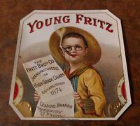 Young Fritz Outer cigar box label Cincinnati, Fritz Brothers circa. 1910