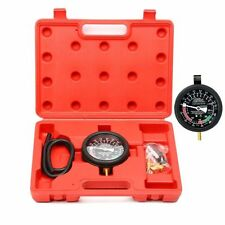 Fuel Pump Vacuum Tester Gauge Leak Carburetor Pressure Diagnostics W/ Case CA