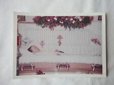 1960's FUNERAL POST MORTEM Vintage PHOTO Woman in Casket