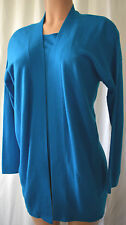 AKRIS PUNTO  BLUE/TEAL WOOL/CASHMERE TWINSET SIZE 10