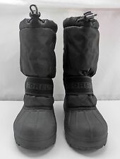 Sorel Black Snow Chariot Winter Boots - Drawstring Top-Removable Liners - Size 6