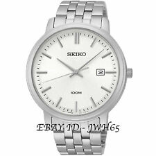 Seiko Stainless Steel Case Silver Strap Wristwatches