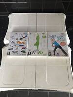 2 x NINTENDO WII FIT BALANCE BOARD WHITE Exercise FAULTY SPARES OR REPAIR
