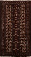 Tribal Hand-knotted Balouch Afghan Oriental Area Rug Geometric Home Decor 2x4 ft