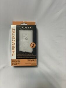 Cadet 3600-Watt Programmable Electronic Thermostat Double Pole TEP362DW