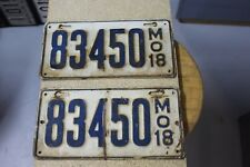 1918 Missouri License Plate