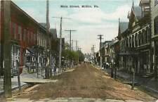 Pennsylvania, PA, Mifflin, Main Street 1910's, Bowling & Gen Store Sign Postcard