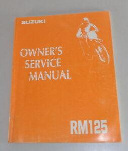Taller Manual/Owner's Manual de Servicio Suzuki RM 125 Desde 7/1992