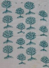 Tree Of Life Hand Block Printed Cotton Fabric 5 yard indian Anokhi Design Blue