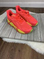 Puma RS-X Soft Case Pink Alert/Yellow Running Shoes 371983-01 Womens Size 10