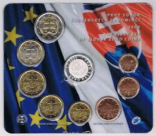 """SLOVAQUIE - COFFRET BU """"1ére ANNEE AVEC LA MONNAIE EURO"""" 2009 - réf : 16 189 8 -"""
