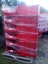 1 x PALLET (18) USED ALLIBERT RED PLASTIC PARTS STORAGE BINS 730 X 445 X 305 MM