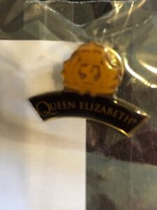 CUNARD QUEEN ELIZABETH CREST BADGE PIN New Sealed❤️❤️
