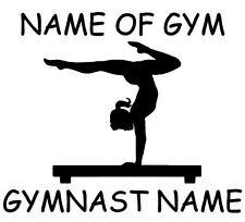 Car Window Vinyl Decal Sticker- Sports  Gymnastics Personalized