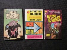 1965/80 DAMON KNIGHT Paperback LOT of 3 Beyond Barrier / Hell's Pavement FN 6.0