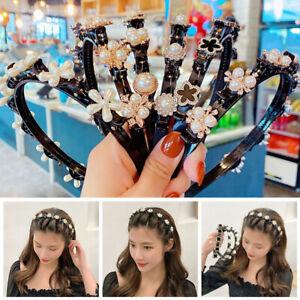 Women Acrylic Resin Headband Girl Hair Bands Braided Hairpin Hair Hoop Fashion