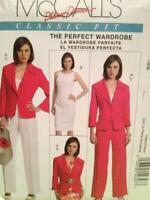 McCalls Sewing Pattern 5818 Ladies Misses Dress Jacket Pants Size 4-10 Uncut